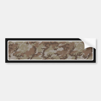 Camouflage Desert Background Template Bumper Sticker