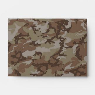 Camouflage Desert Background Template Envelope