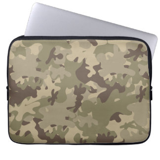 Camouflage design computer sleeves