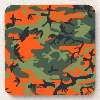 Camouflage design coasters