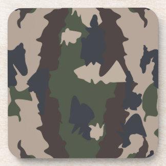 Camouflage design beverage coasters