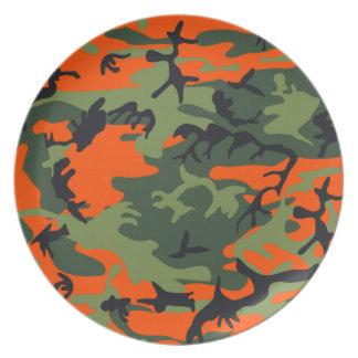 Camouflage design dinner plates