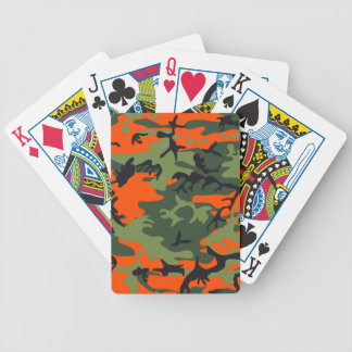 Camouflage design bicycle card decks