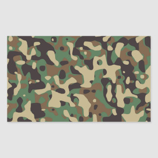 Cool army design stickers zazzle camouflage design rectangular sticker voltagebd Choice Image