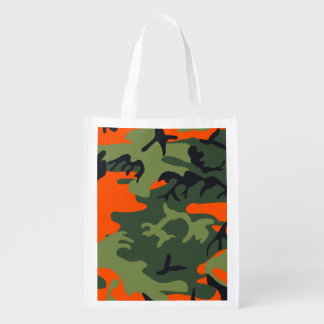 Camouflage design reusable grocery bag
