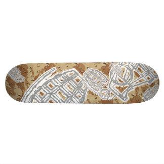 Camouflage Dessert Grenades Skateboard Deck