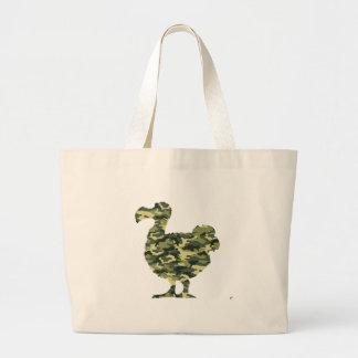 Camouflage Dodo Bird Silhouette Tote Bag
