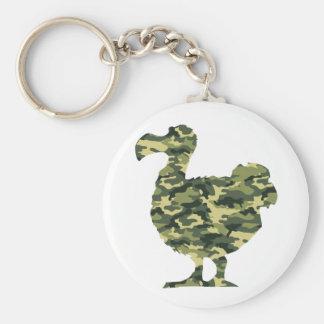 Camouflage Dodo Bird Silhouette Key Chain