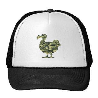 Camouflage Dodo Bird Silhouette Trucker Hat