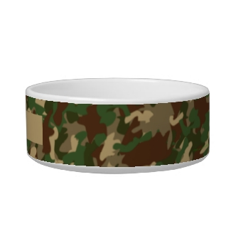 Camouflage Dog Bowl Personalized Add Your Name