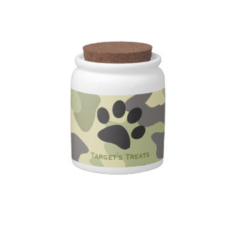 Camouflage     Dog Treat Jars Candy Jar