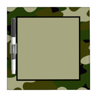 Camouflage Dry Erase Board