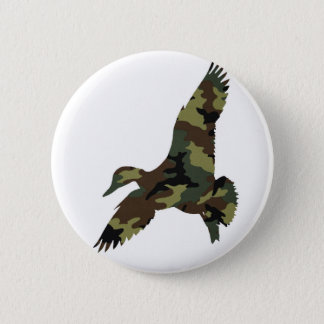 Camouflage Duck Pinback Button
