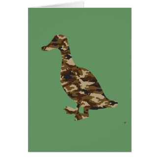 Camouflage Duck Silhouette Card