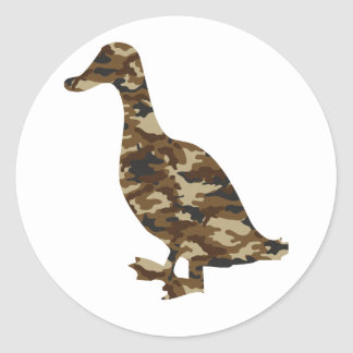 Camouflage Duck Silhouette Stickers