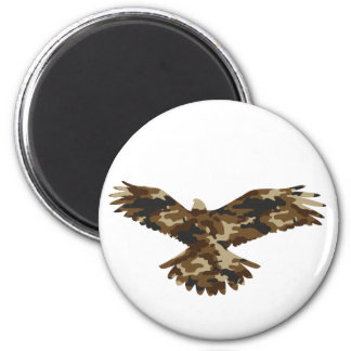 Camouflage Eagle Silhouette 2 Inch Round Magnet