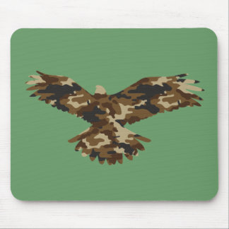 Camouflage Eagle Silhouette Mouse Pad
