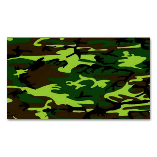 Camouflage Elite (army jungle green) ~ Business Card Magnet