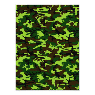 Camouflage Elite (army jungle green) ~ Card