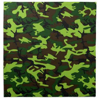 Camouflage Elite (army jungle green) ~ Cloth Napkin