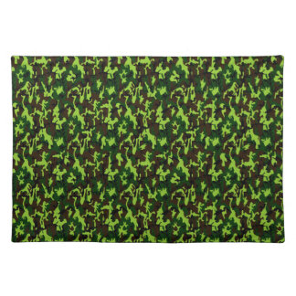 Camouflage Elite (army jungle green) ~ Cloth Placemat