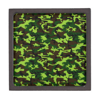 Camouflage Elite (army jungle green) ~ Jewelry Box