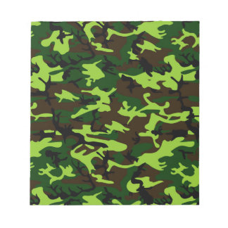 Camouflage Elite (army jungle green) ~ Memo Notepads