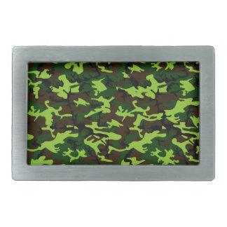 Camouflage Elite (army jungle green) ~ Rectangular Belt Buckle