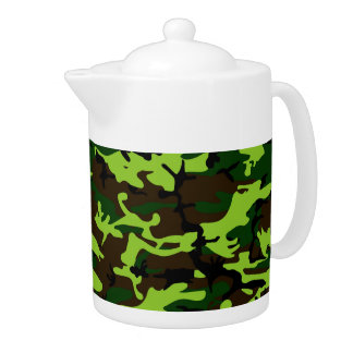 Camouflage Elite (army jungle green) ~ Teapot