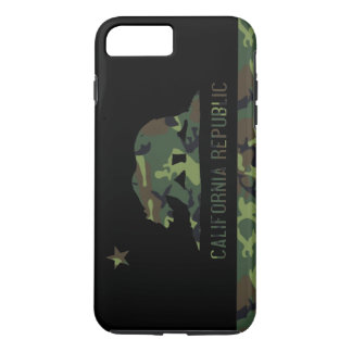 Camouflage Flag of California Republic iPhone 7 Plus Case