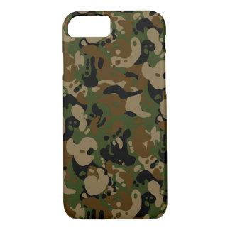 camouflage forest design pixel art iPhone 7 case