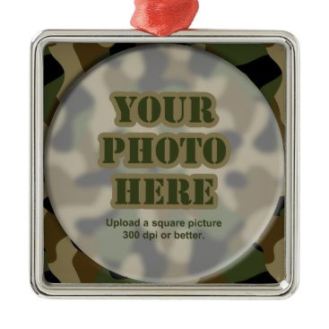Camouflage Frame Ornament