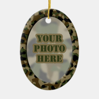 Camouflage Frame Ornament 2-sided