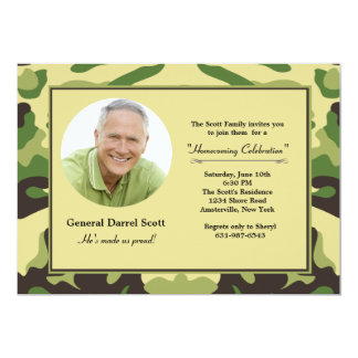Camouflage Frame - Photo Military Invitation