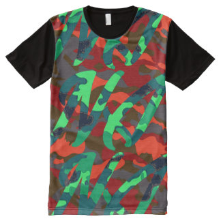 Camouflage Front All-Over-Print T-Shirt
