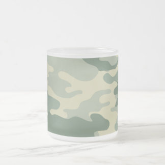 Camouflage Frosted Glass Coffee Mug