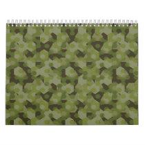 Camouflage geometric hexagon calendar