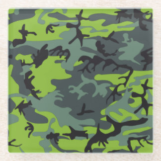 Camouflage Glass Coaster