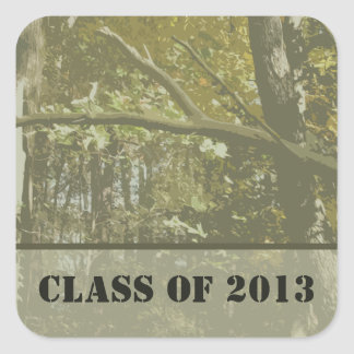Camouflage Graduation Class of 2013 Sticker