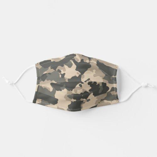 Camouflage Green Camo Tan Desert Woodland Cloth Face Mask