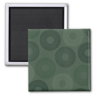Camouflage Green Lace Doily Refrigerator Magnet