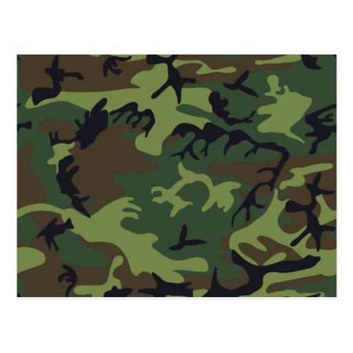 Camouflage Green Postcard