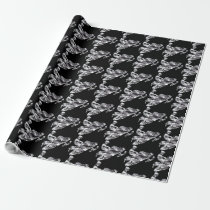 Camouflage Grey Snowmobile Wrapping Paper