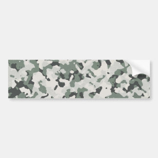Camouflage Grey Tan Green Black Multi Terrain Bumper Sticker