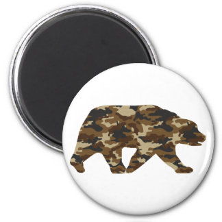 Camouflage Grizzly Bear Silhouette Magnet