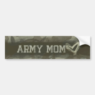 Camouflage Grunge Army Mom Love Bumper Sticker