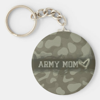 Camouflage Grunge Army Mom Love Keychain