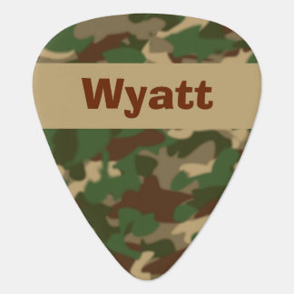 Camouflage Guitar Pick Personalized Name