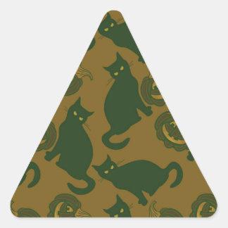 Camouflage Halloween Triangle Sticker