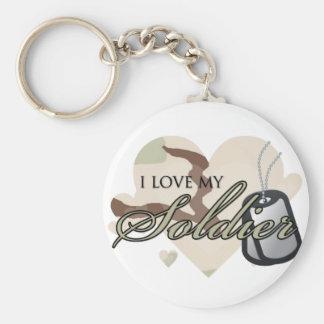 Camouflage Heart Basic Round Button Keychain